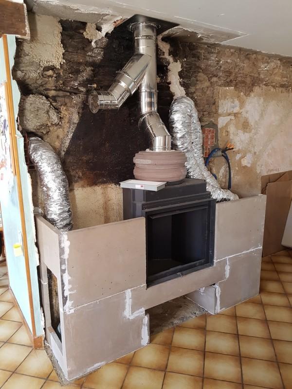 chauffage au bois et construction d 39 un po le ma onn par hp energetik. Black Bedroom Furniture Sets. Home Design Ideas